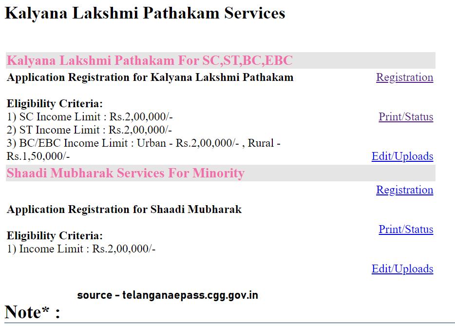 Kalyana laxmi Pathakam